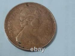 1971 2p New Pence Coin (EXTREMELY RARE) Original UK Queen Elizabeth 2nd II