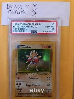 1999 Pokemon Spanish 1st Edition Hitmonchan Holo Psa 10 Pop2 Wotc Extremely Rare