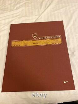 2005-06 Arsenal Highbury Home Limited Edition Boxed Shirt Extremely Rare Nike