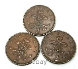 3 pc 1971 2 p New Pence Coin EXTREMELY RARE Original old coin Vintage collectors