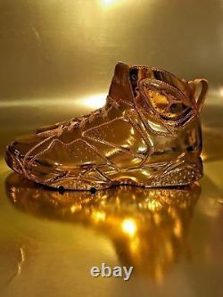 Air Jordan 1, 3,7, & 13 Retro Custom 24k Plated GOLD Extremely Rare Combo