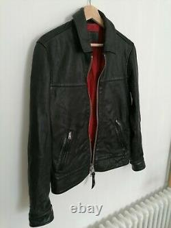All Saints Hayne Leather Jacket Size XS Extremely Rare RRP £350