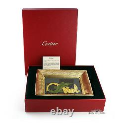 CARTIER PORCELAIN CROCODILE TRINKET TRAY Extremely Rare