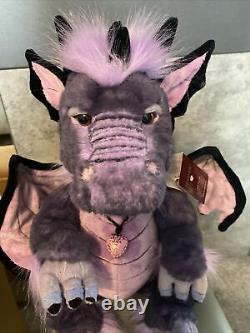 Charlie Bear Scorch Dragon New Extremely Rare purple Ready To Post