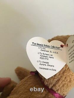 Curly Bear Beanie Baby EXTREMELY RARE 5 ERRORS