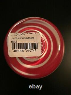E-One Of A Kindness Reverse Candy Cane Glassybaby Extremely rare