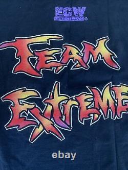 ECW Team extreme vintage shirt size large tazz sabu new jack tommy dreamer rare