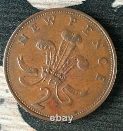 EXTREMELY RARE 1971 2p Original Old Coin New Pence 2p Coin
