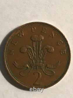 EXTREMELY RARE! 2p 1971 2p New Pence Coin