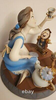 EXTREMELY RARE Beauty And The Beast Markrita Belle 10th Year Statue with Beast Pin