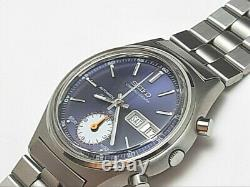 EXTREMELY RARE NOS 1970'S SEIKO CHRONOGRAPH 7016-8001 (5 hands) UNUSED #7234