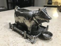 EXTREMELY RARE Pierre Deux Pewter Cow Crem Creamer INTRICATE Only On eBay