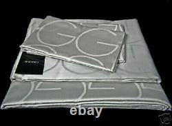 EXTREMELY RARE! TOM FORD for GUCCI SILVER SHEET SET Queen size NEW IN THE BOX