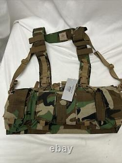 EXTREMELY RARE Velocity Systems Mayflower UW Gen IV Chest Rig Woodland Camo M81