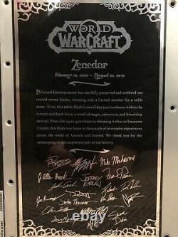 EXTREMELY RARE World of Warcraft Retired Server Blade Zenedar EUROPE