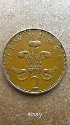 Extremely Rare 1971 2p New Pence Coin, in good condition