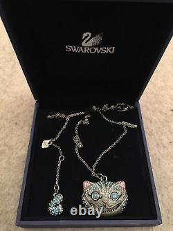 Extremely Rare Discontinued Swarovski Necklace Alice In Wonderland Cheshire Cat