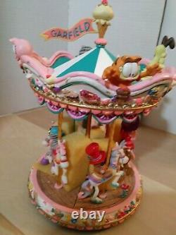Extremely Rare! Garfields Spinning Carousel Odie Arlene Jim Davis Danbury Mint