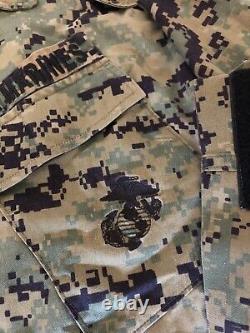 Extremely Rare Prototype 2001 USMC MARPAT BLOUSE Woodland Digital UNIFORM MEDIUM