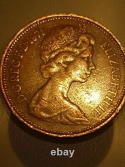 Extremely rare 1971 2p New pence Original old coin