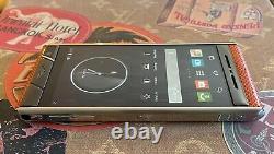Genuine Vertu Aster TANGERINE KARUNG Extremely RARE Luxury Global GSM Phone