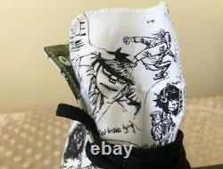 Gorillaz Converse Shoes White/Black High Top Size 10 EXTREMELY RARE