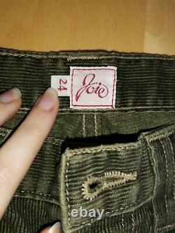 HTF! Extremely RARE! New Joie Cargo Cord Pant Green ASO Bella Swan Twilight 24