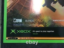 Halo 2 Extremely rare Embossed Metallic Promo Poster Xbox New Master Chief