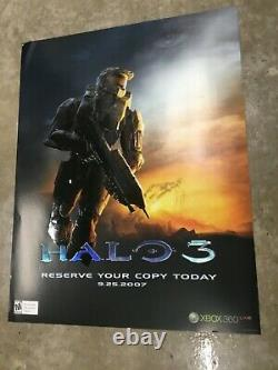 Halo 3 Extremely rare Embossed Promo Poster Xbox New Mint Condition Master Chief