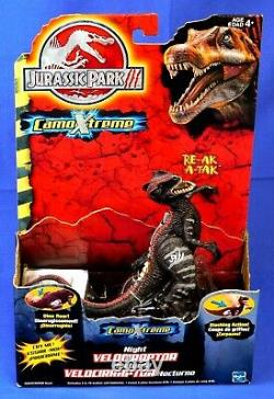 Jurassic Park 3 Camo Extreme Night Velociraptor Unopened 2001 Rare