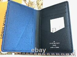 LOUIS VUITTON Damier Graphite Pocket Organizer Map Print Extremely RARE Sold OUT