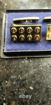 Lego 1970's Service Gold Plated Cufflinks. Extremely Rare! Beautiful Condition