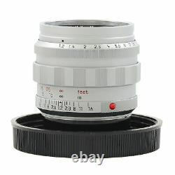 Leica Leitz 50mm F1.2 Noctilux-m Asph Silver + Box Extremely Rare 11702 #3210