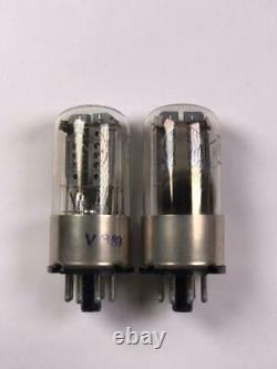 Matched pair Extremely rare 1578 6N8S audiophile 6H8S 6SN7 Metal base