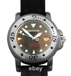 Montblanc Extremely Rare Ltd Tatntalum Chronometer Watch Diamond 36915 New Box