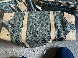Mulberry Black & Birds Nest Leopard Travel Tote Bag EXTREMELY RARE NEW