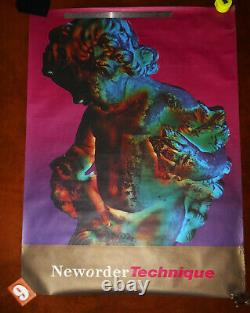 New Order Technique Extremely Rare Original Poster 1989 Factory Records VI