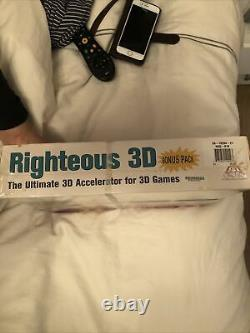 Orchid Righteous 3D 3dfx Voodoo Extremely Rare Brand New Boxed Sealed