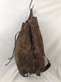 RRL Sake Cinch Sack Bag EXTREMELY Rare Persimmon Dyed Linen OG Hangtag Japan