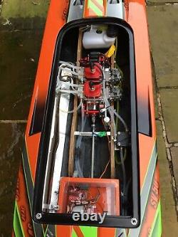 Rc Boat Brusher Sv50 Special Extremely Rare Boat In Uk 67