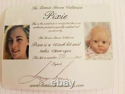 Reborn Doll KIT Pixie by Bonnie Brown with Bell Plate- Extremely Rare Sold Out