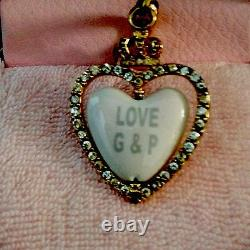 Reserved! Juicy Couture Heart Spinner Charm Yjru1085 Extremely Rare Nwt