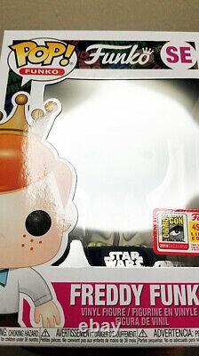 Sdcc 2018 Pop Star Wars Yoda Freddy Funko Fundays Vinyl Figure 1/450 Grail Mint