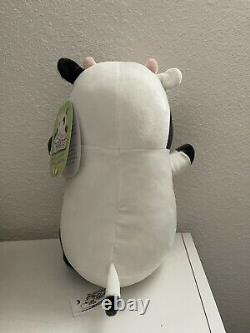 Squishmallow Marina Hug Mee Black White Cow Plush 10 Extremely RARE Like Cliff