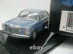 WOW EXTREMELY RARE Mercedes W115/8 280C Coupe Blue 143 Auto Art-220/Minichamps