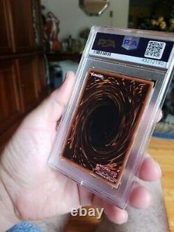 YUGIOH Dark Magician LOB 005 1st Ed. Wavy PSA 7 NEAR MINT Cond. Extremely Rare