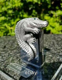 Zippo, 3d Crocodile In Acrylic Cube, Limited Edition (extremely Rare)
