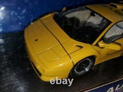 1/18 Autoart 1995 Lamborghini Diablo Sv Yellow Extrêmement Rare Licorne Diablo Sv