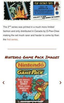 1989 O-pee-chee Nintendo Game Packs Series 2 Box Opc Extremely Rare Super Mario