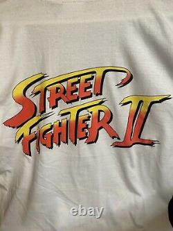 1991 Street Fighter II Ryu Vintage Capcom Doublesided Shirt Extremely Rare Large
